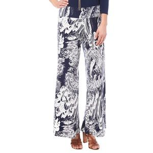 Clara Sun Woo   Blue Ocean Wave Palazzo Pants